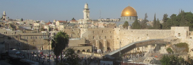 Jerusalem mit Klagemauer am 26.10.2013
