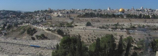 Blick vom Oelberg nach Norden auf Jerusalem am 26.10.2013