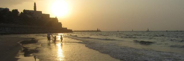 Strand von Tel Aviv-Yafo am 1.11.2013
