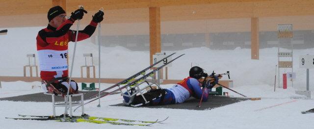 IPC-Weltcup:  Schießstand am 8.2.2010 Schauinsland-Notschrei