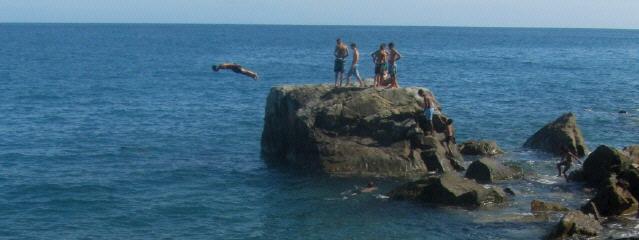 An der Küste von Ligurien 40 km östlich von Genua am 10.7.2014