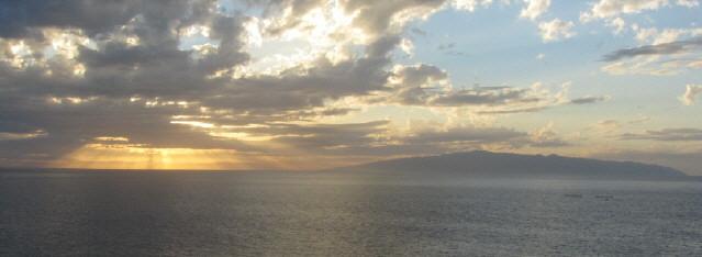 Blick übers Meer auf La Gomera am 5.12.2015