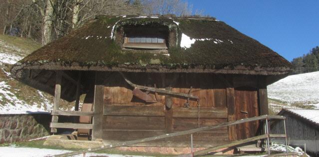 Alte Mühle mit Säge bei St. Peter im Schwarzwald am 16.2.2012