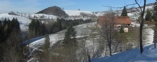 Blick zum Kandelberg bei St. Peter im Schwarzwald am 12.2.2016