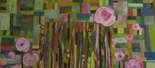 Das Geheimnis der Rosen   - Quilt-Stoffbild 130 * 100 cm