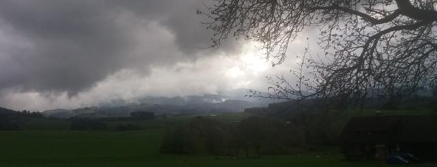 Regen im Schwarzwald zwischen St.Peter und St.Märgen im Oktober 2017 nachmittags