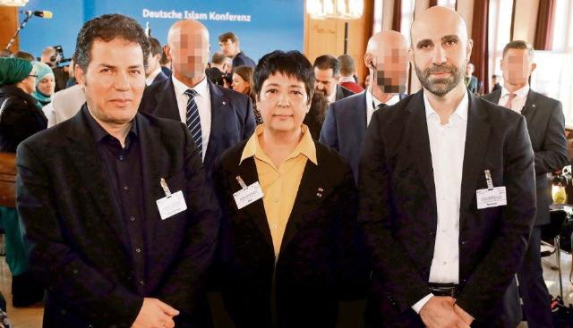 Hamed Abdel-Samad, Seyran Ates und Ahmad Mansour (rechts) auf der 4. Islam-Konferenz am 28.11.2018