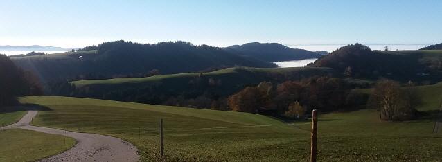 St.Peter im Schwarzwald - Blick zum Nebel des Rheintals im Oktober 2018
