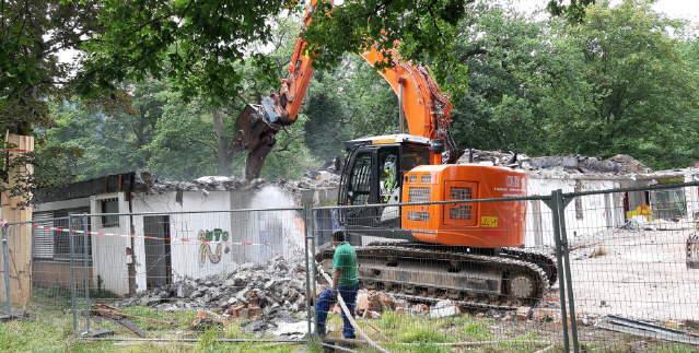 Abriss Schulgebäude Kapriole in 2019
