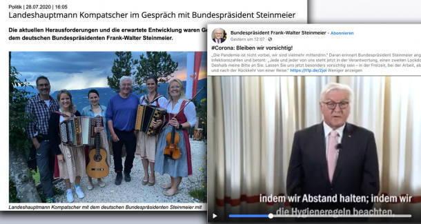 Doppelmoral: Bundespräsident Steinmeier hält sich nicht an Abstands- und Mundnasenschutz-Vorgaben