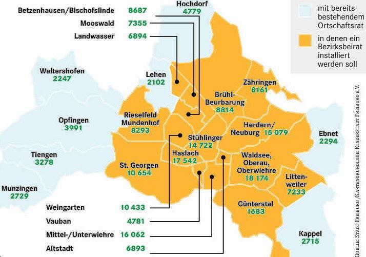 Freiburg Karte Stadtteile.Freiburg Dreisamtal De Dienstleistungen Der Stadt Freiburg
