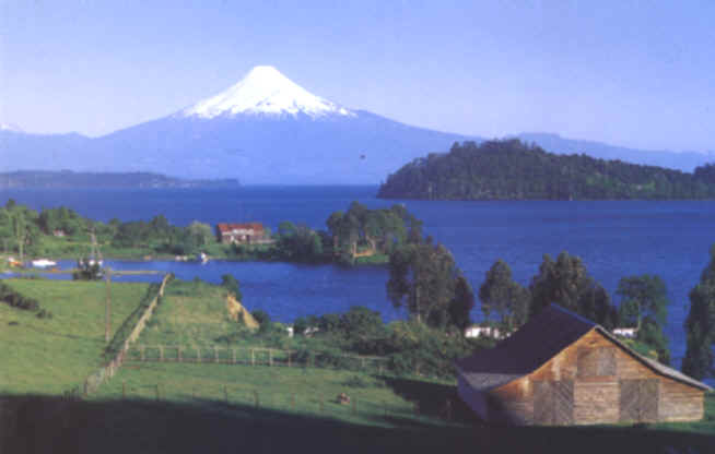 Osorno and Lake Llanqhuihue in the south of Chile