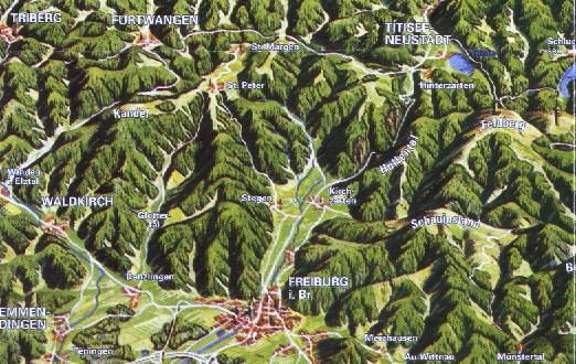 Berge Um Freiburg Karte.Freiburg Schwarzwald De Landkarten Plane Geografie Zum