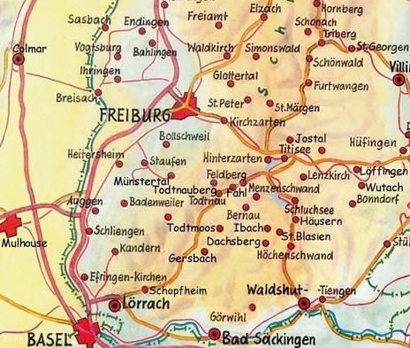 Freiburg Karte.Freiburg Schwarzwald De Landkarten Plane Geografie Zum